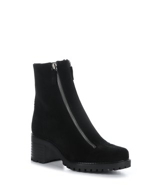 Bos & Co Double Zip Black Suede Boot