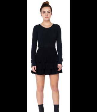 Black Tiered Knit Skirt