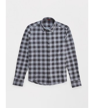 Stone Rose Stone Grey Check Flannel Knit