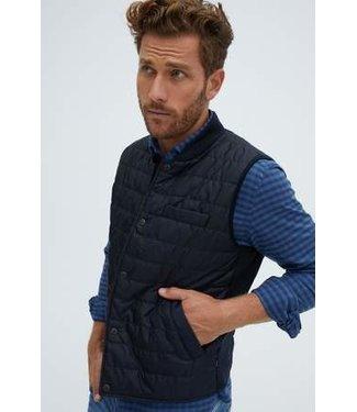 Stone Rose Navy Puffy-Knit Vest