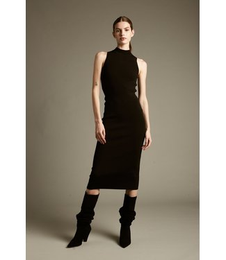 Deluc Tight Knit Black Tank Dress