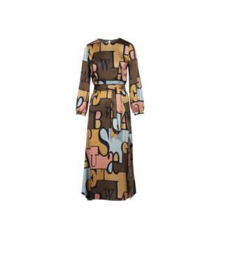Anonyme Words Dress Brown