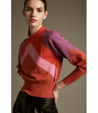 Deluc Cropped Multi Sweater