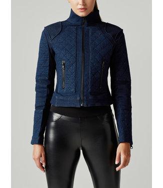 blanc noir Denim Moto Jacket
