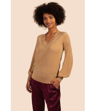 trina turk Camel Evening Sun Sweater