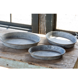 Park Hill Round Galvanized Plant Tray Large