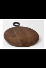 BIDK Acacia Wood Round Cutting Board 17.7 Dark Brown