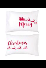 C&F Enterprises Merry Christmas Pillow Case Set
