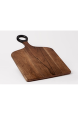 BIDK Acacia Wood Rectangular 11.8 x 17.7 Dark Brown