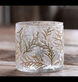Park Hill Cedar Embedded Glass Votive