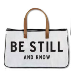 GIB Carson Companies Be Still and Know Canvas Tote