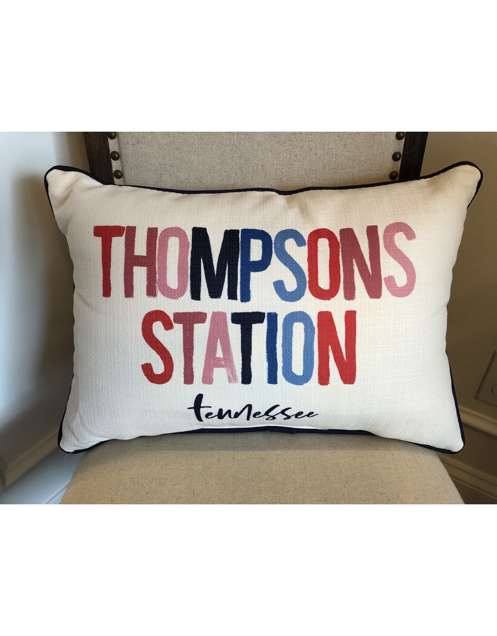 Little Birdie Thompsons Station Poster Pillow