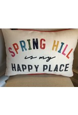 Little Birdie Spring Hill Is My Happy Place Pillow
