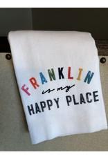 Little Birdie Franklin Is My Happy Place Tea Towel
