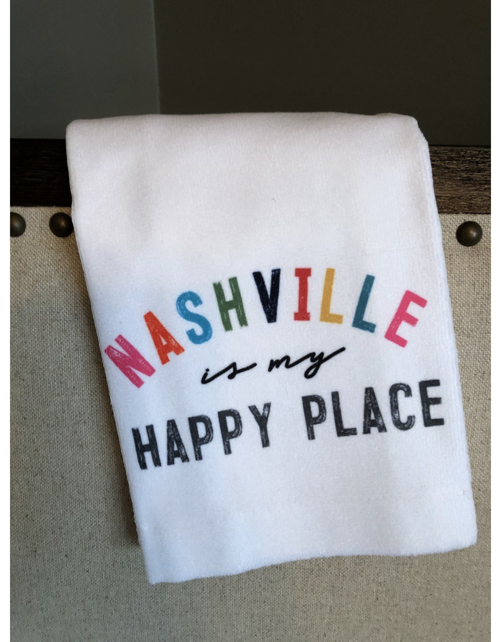 Little Birdie Nashville Is My Happy Place Tea Towel