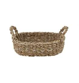 Creative Brands Small Seagrass Oval Basket