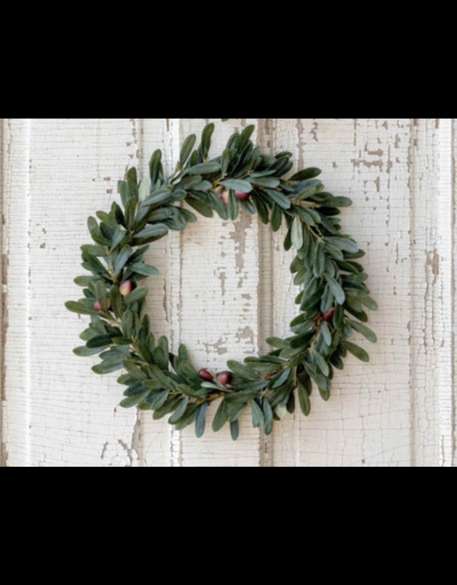 "Park Hill Olive Leaf Wreath 10"""
