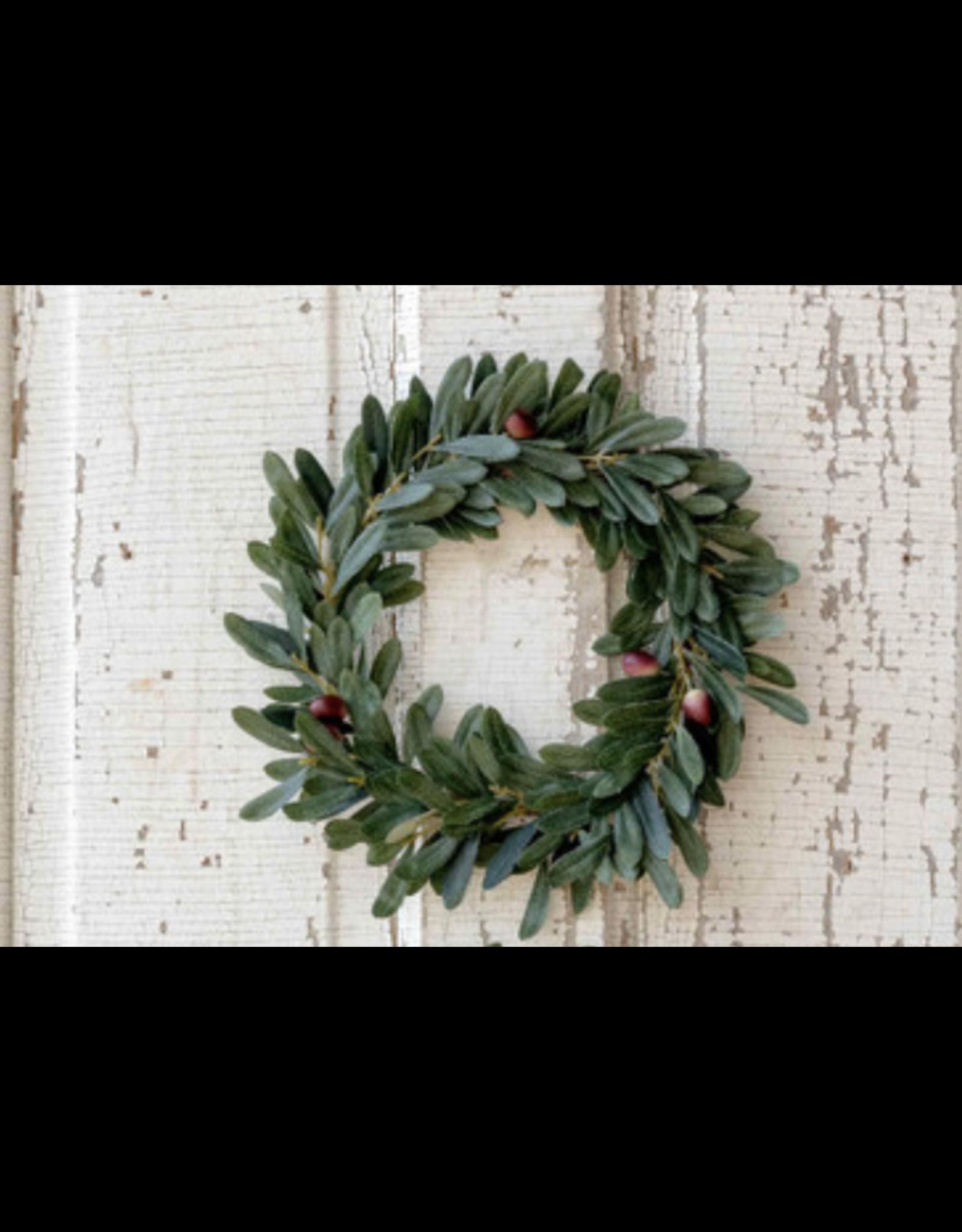 "Park Hill Olive Leaf Wreath 8"""