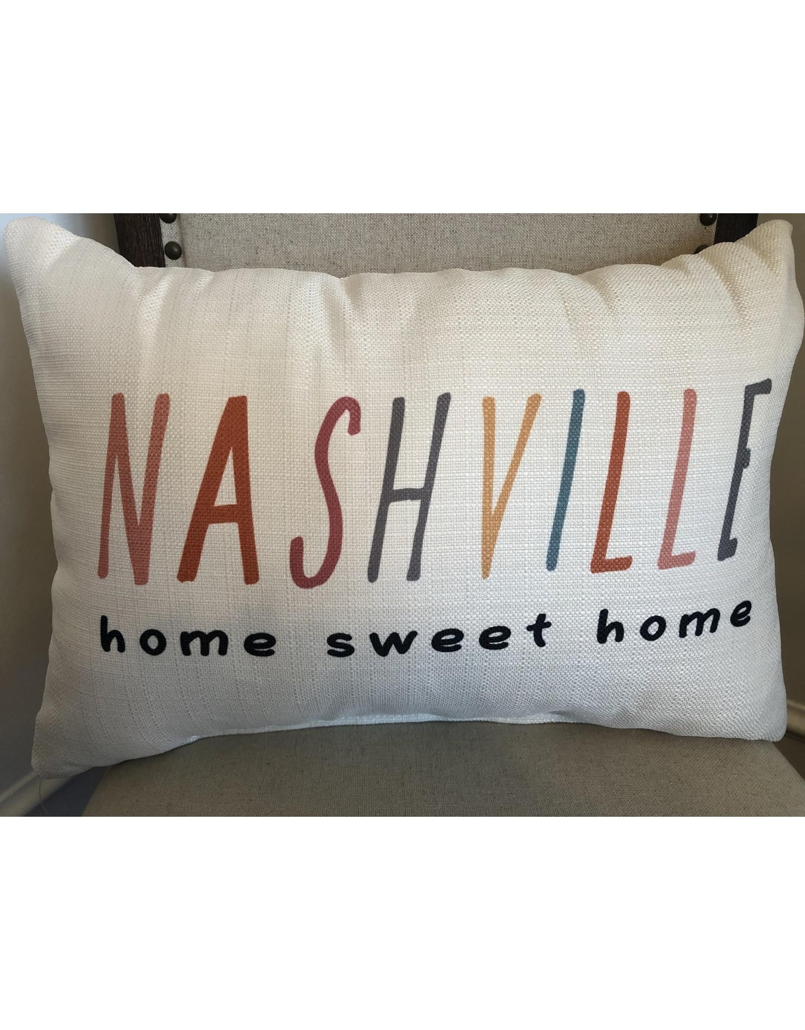 Little Birdie Nashville Home Sweet Home Pillow