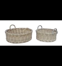 BIDK Small Rattan Round Basket