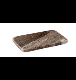 BIDK Marble Tray/Soap Dish Brown Galazy