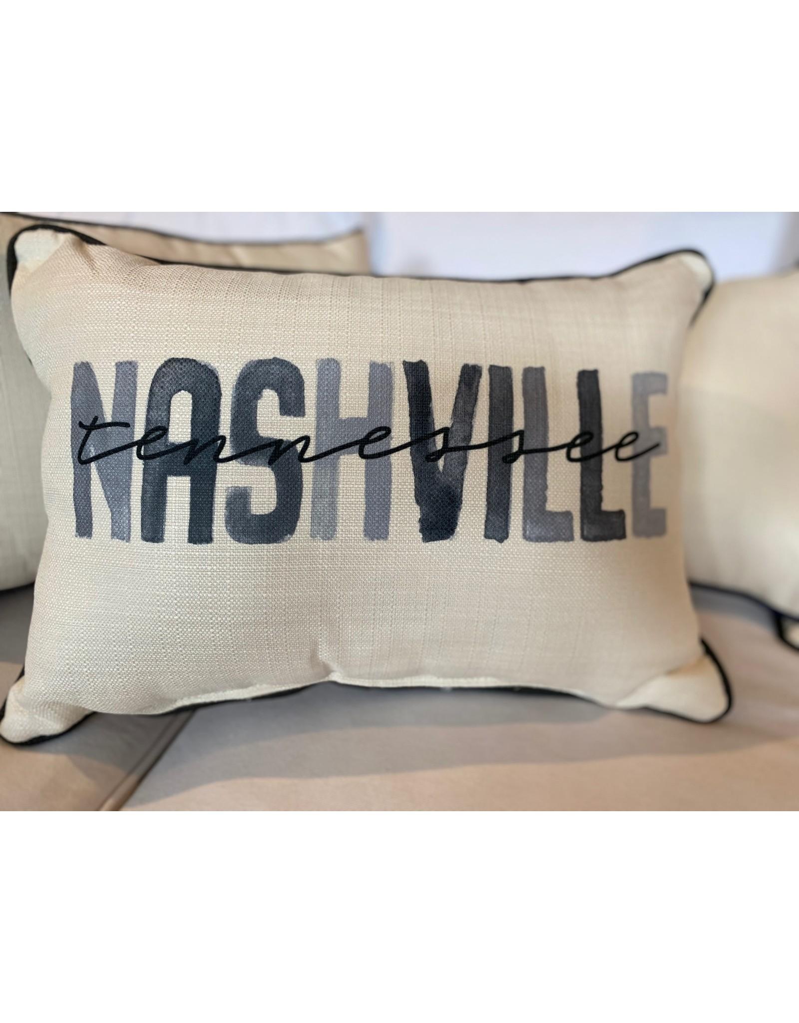 Little Birdie Gray Nashville Poster Pillow