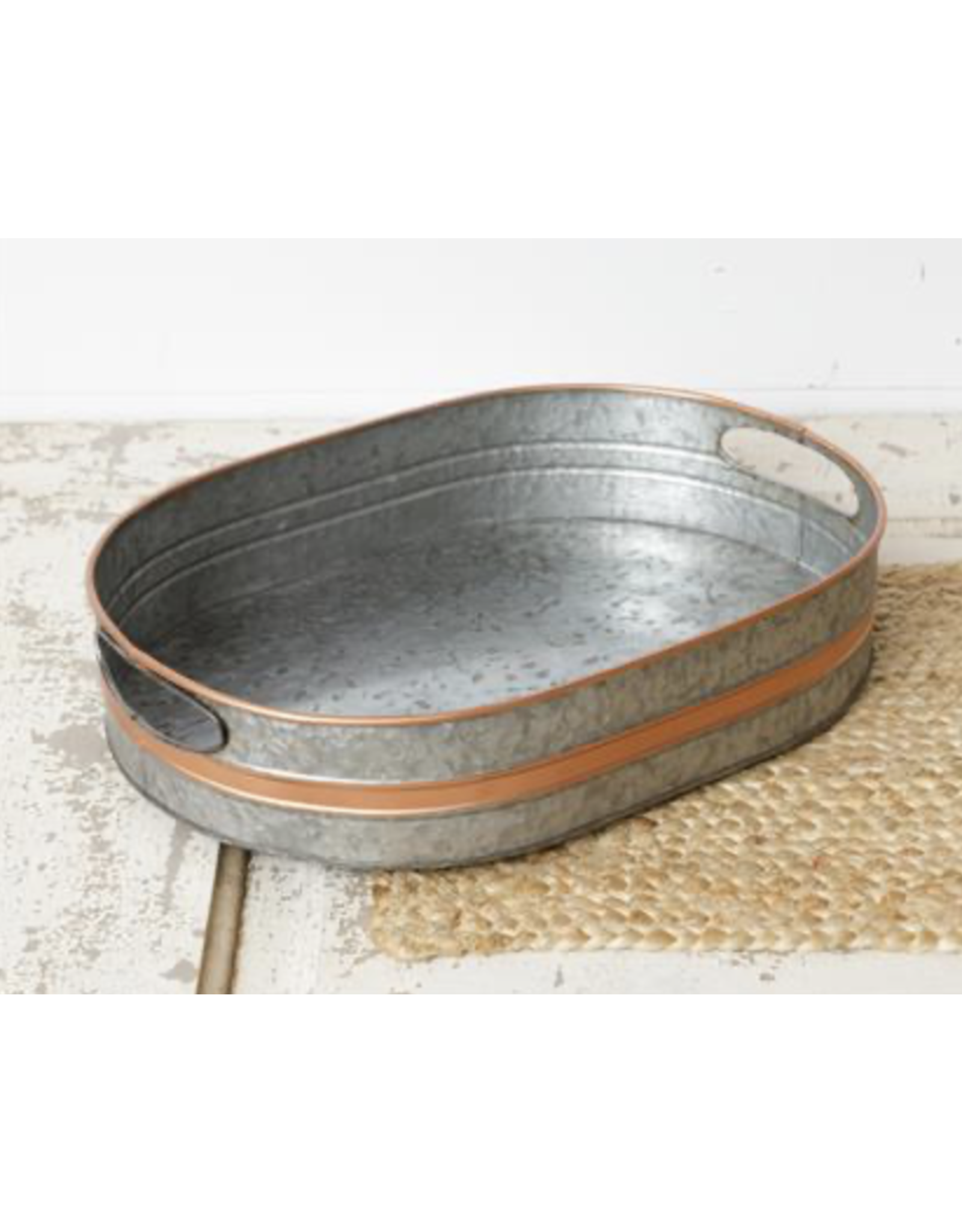 Audrey's Galvanized Tray with Copper