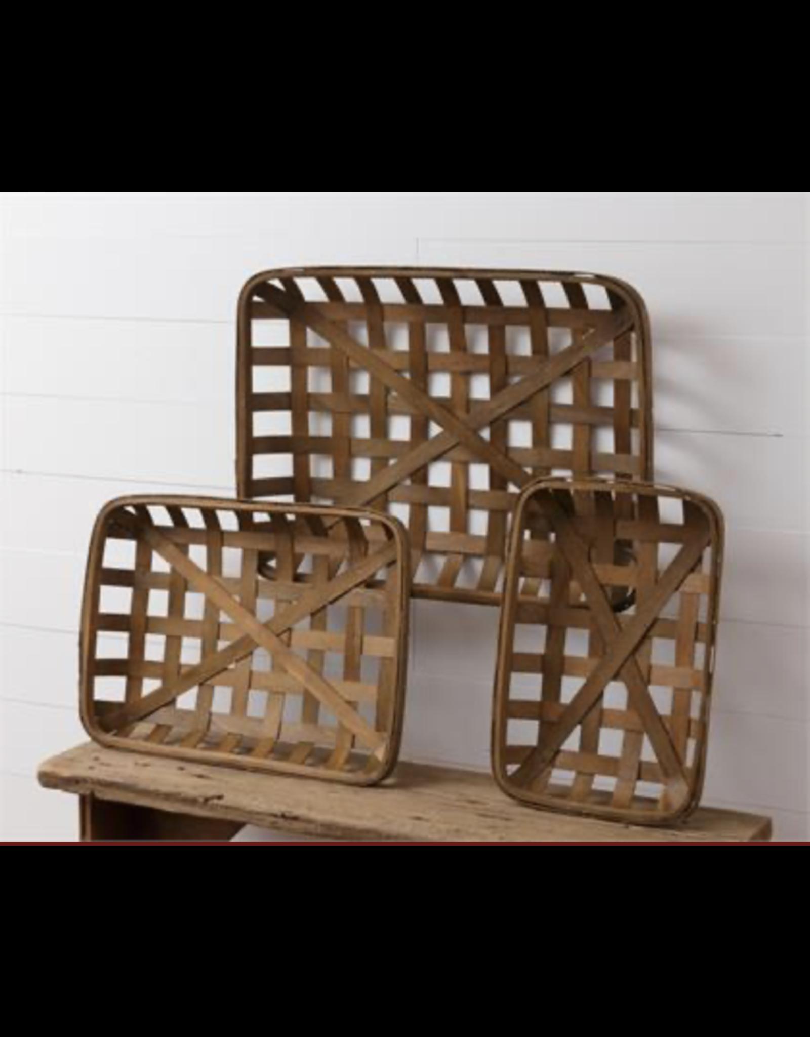 Audrey's Tobacco Rectangular Basket Large