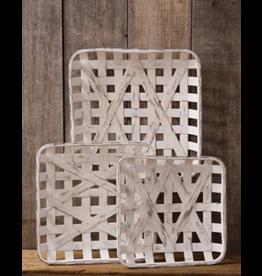 Audrey's Tobacco Basket Antiqued Square Large