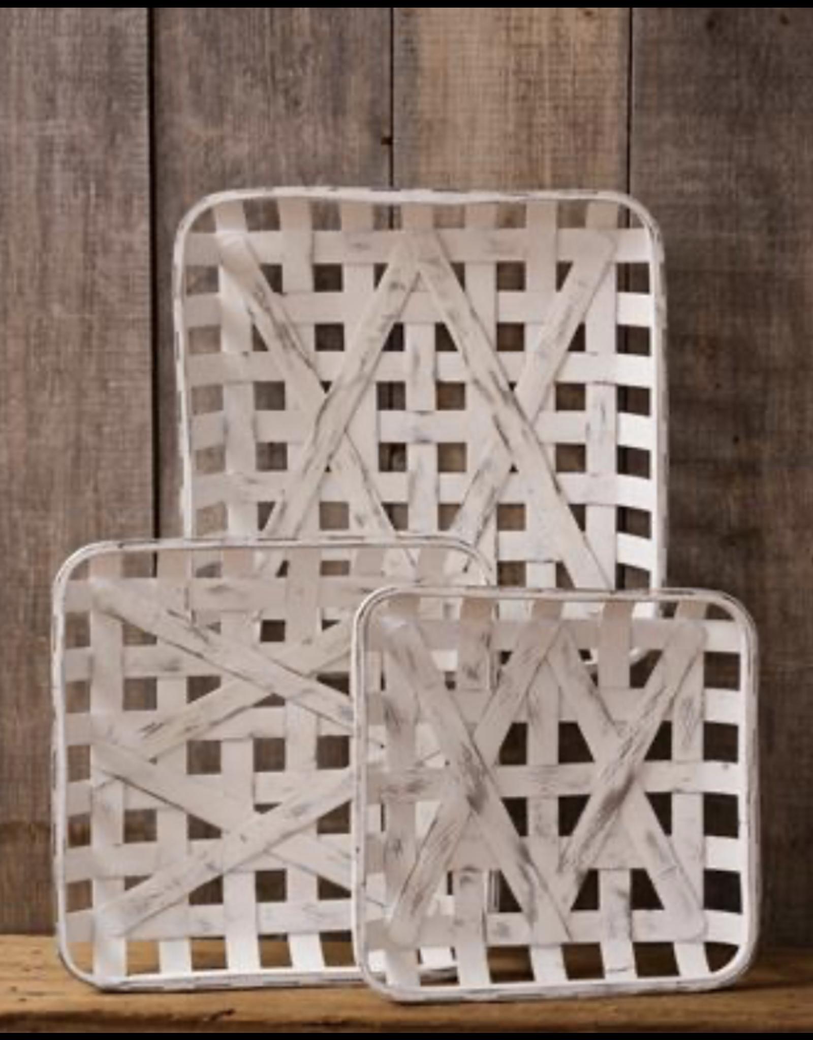 Audrey's Tobacco Basket Antiqued Square Medium