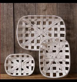 Audrey's Tobacco Basket Antiqued Rectangular Large