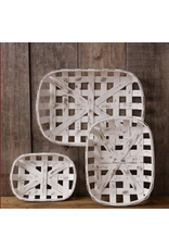 Audrey's Tobacco Basket Antiqued Rectangular Medium