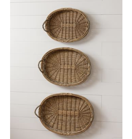 Audrey's Beaded Oval Willow Basket Large