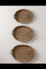 Audrey's Beaded Oval Willow Basket Medium