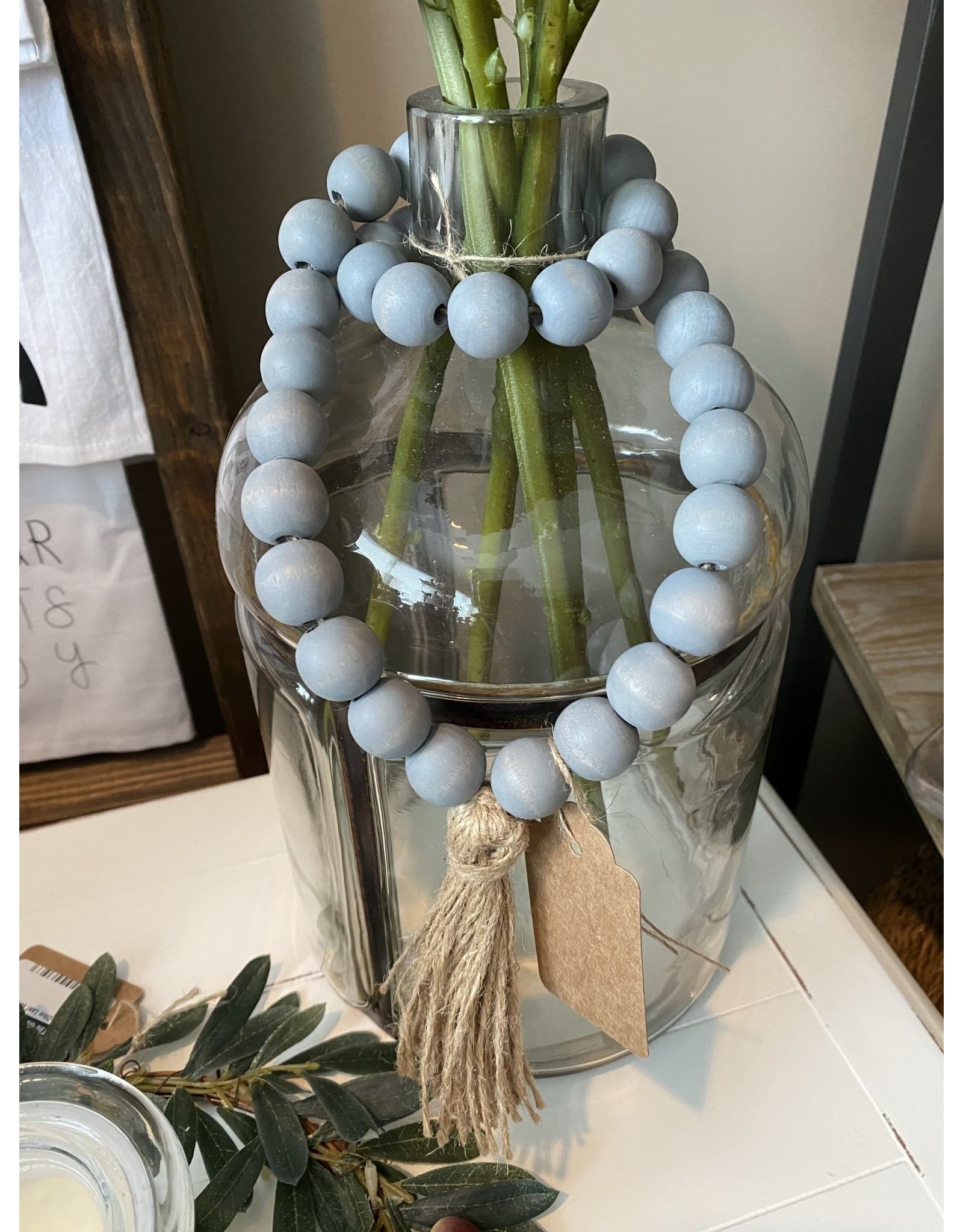 PD Home & Garden Grey Beads with Tassel