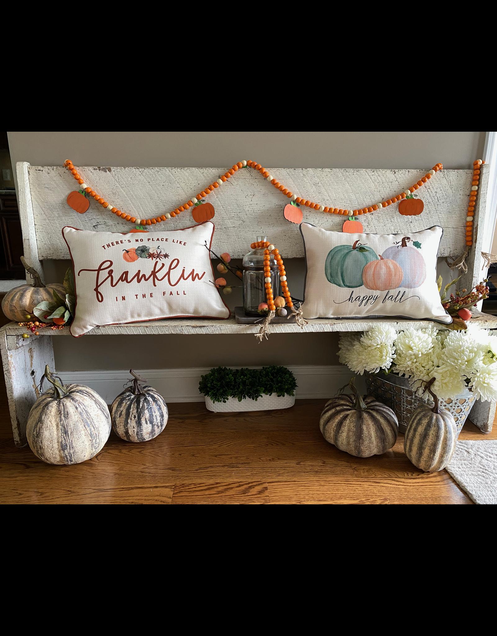The Good Tree Pumpkin Wood Beaded Garland