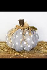 PD Home & Garden Grey & White Polka Dot Pumpkin