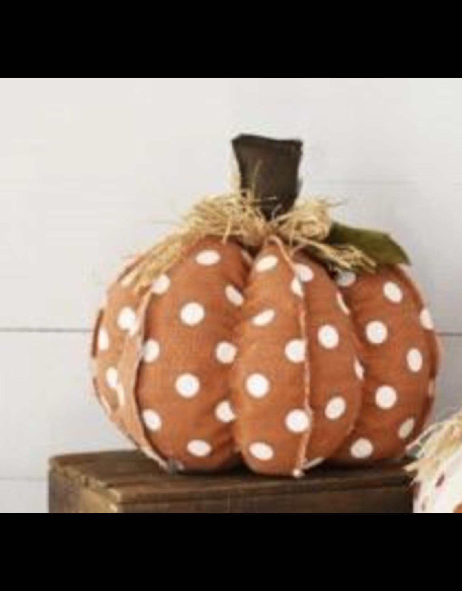 PD Home & Garden Orange & White Polka Dot Pumpkin