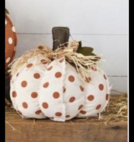 PD Home & Garden Tan & Orange Polka Dot Pumpkin