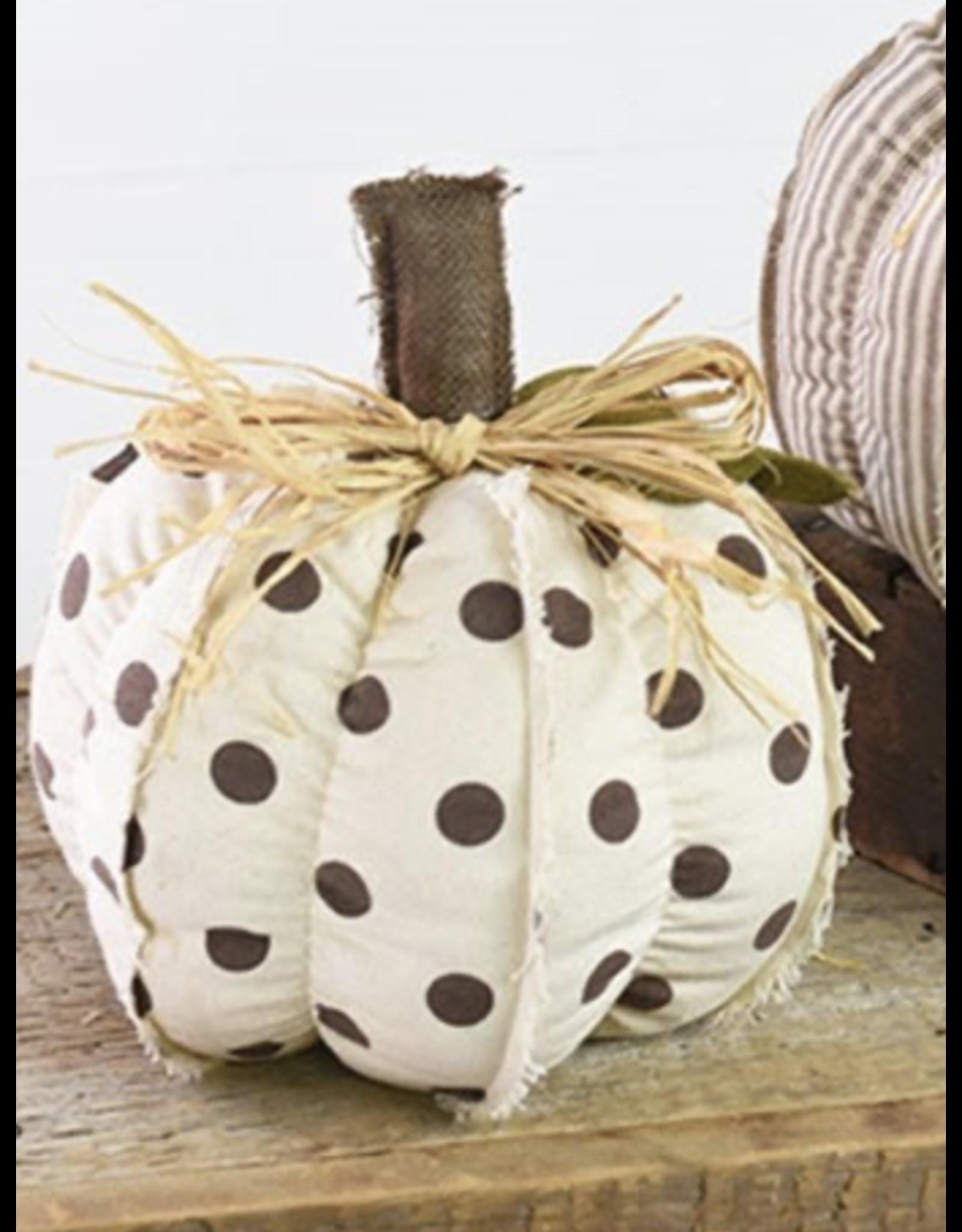 PD Home & Garden Tan & Brown Polka Dot Pumpkin