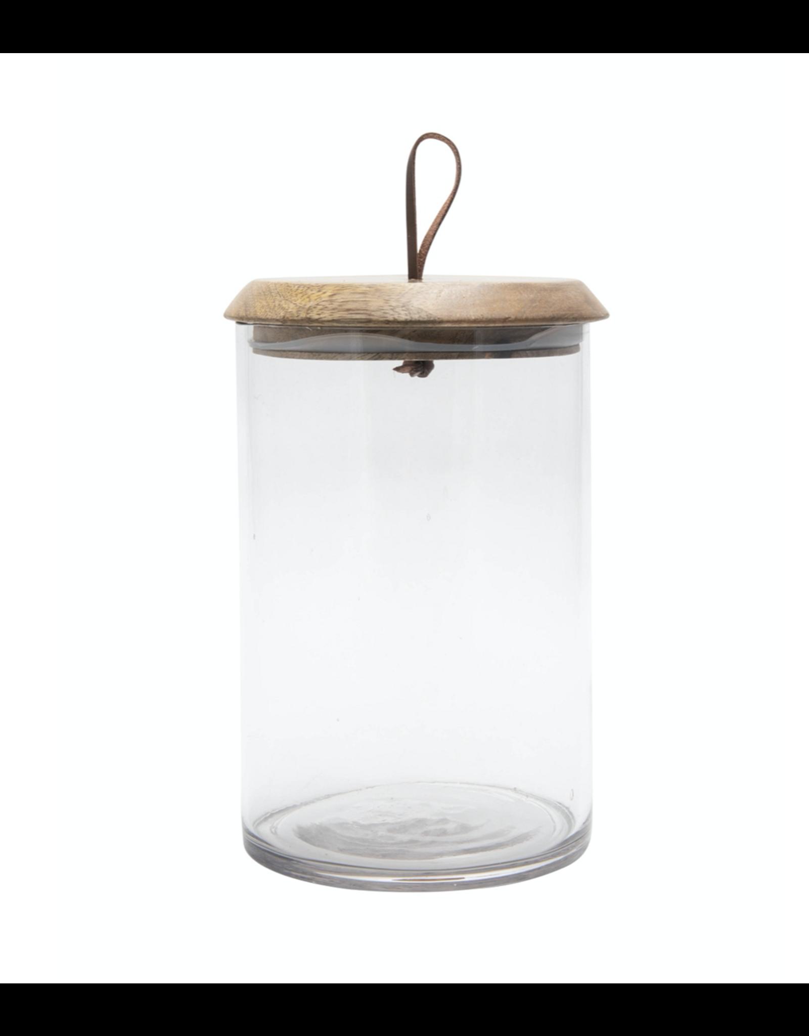 BIDK Small Mango & Glass Covered Jar