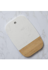 Audrey's White Marble & Acacia Serving Board Small