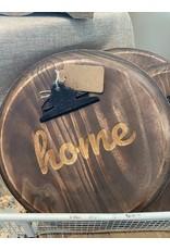 """Park Hill Barrel Top Hanging Photo Medium """"Home"""""""