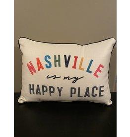 Little Birdie Nashville Is My Happy Place Pillow