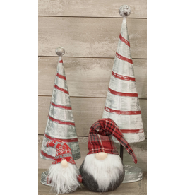 PD Home & Garden Red & White Tree Tin Large
