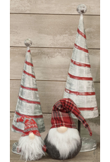 PD Home & Garden Red & White Tree Tin Small