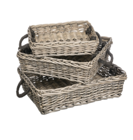 Sullivans Willow Rectangle Basket Large