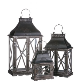 Sullivans Embossed Top Lantern Large