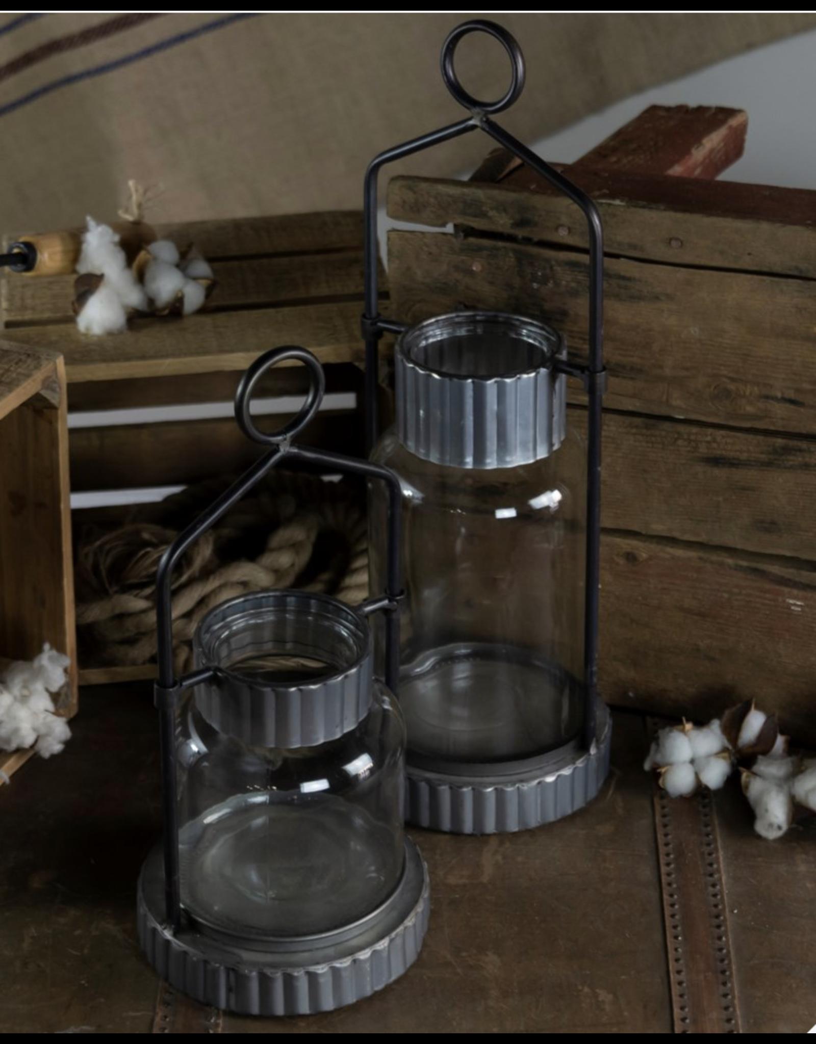 VIP Home & Garden Metal & Glass Lantern Large