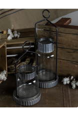 VIP Home & Garden Metal & Glass Lantern Small
